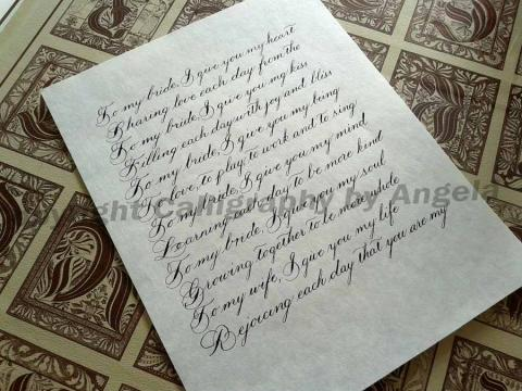 Spencerian Calligraphy letter examples