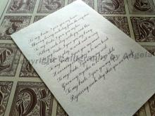 Copperplate Calligraphy letter examples